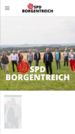 Vorschau der mobilen Webseite spd-borgentreich.de, SPD Borgentreich