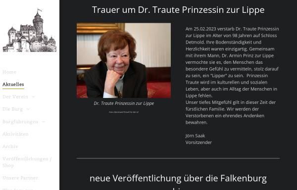 Vorschau von www.falkenburg-lippe.de, Die Falkenburg e.V.