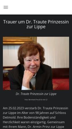 Vorschau der mobilen Webseite www.falkenburg-lippe.de, Die Falkenburg e.V.
