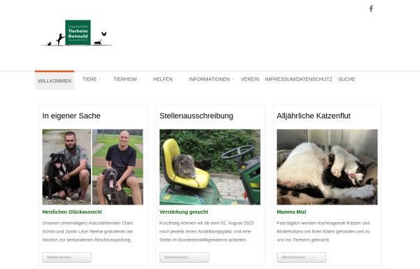 Vorschau von www.tierheimdetmold.de, Tierheim Detmold
