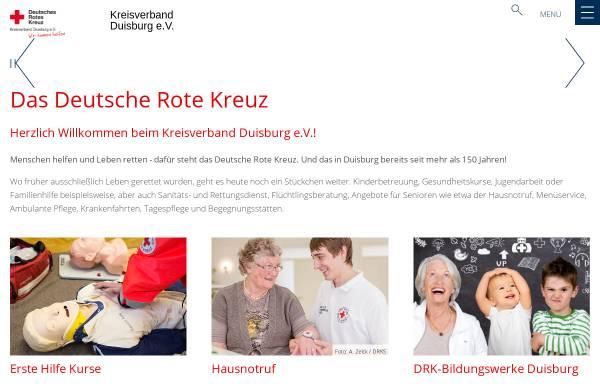 Vorschau von www.drk-duisburg.de, Deutsches Rotes Kreuz, Kreisverband Duisburg e.V.