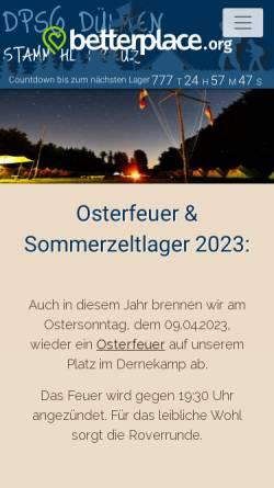 Vorschau der mobilen Webseite www.dpsg-duelmen.de, DPSG Stamm Hl. Kreuz Dülmen