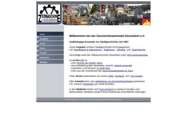 Vorschau von www.geschichtswerkstatt-duesseldorf.de, Geschichtswerkstatt Düsseldorf