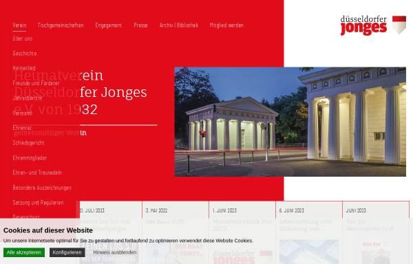Vorschau von www.duesseldorferjonges.de, Heimatverein Düsseldorfer Jonges