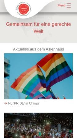 Vorschau der mobilen Webseite www.asienhaus.de, Asienhaus Essen