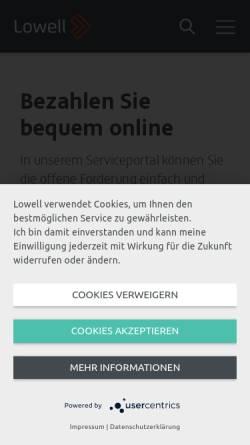 Vorschau der mobilen Webseite www.lowellgroup.de, GFKL Financial Services AG