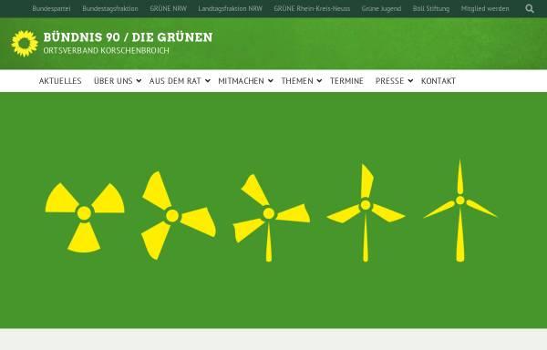 Vorschau von www.gruene-korschenbroich.de, Bündnis 90/Die Grünen Korschenbroich