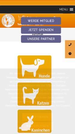 Vorschau der mobilen Webseite www.tsvlev.de, Tierschutz Leverkusen e.V.