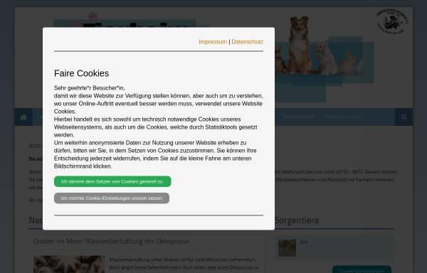 Vorschau von www.tierheim-bettikum.de, Tierheim Neuss-Bettikum