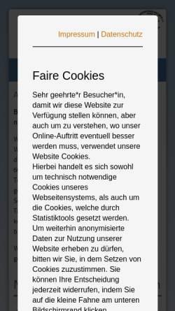 Vorschau der mobilen Webseite www.tierheim-bettikum.de, Tierheim Neuss-Bettikum