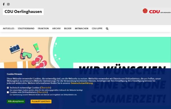 Vorschau von cdu-oerlinghausen.de, CDU Oerlinghausen