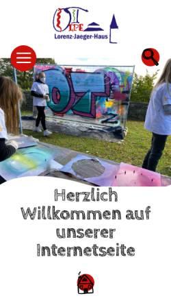 Vorschau der mobilen Webseite www.lorenz-jaeger-haus.de, Lorenz-Jaeger-Haus
