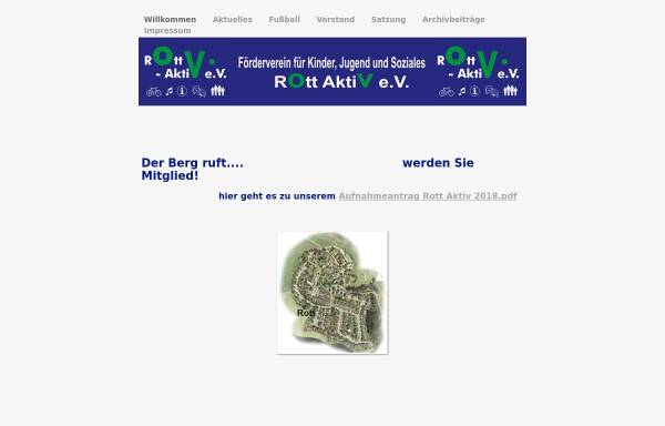 Vorschau von www.rott-aktiv.de, Förderverein für Kinder, Jugend und Soziales, Rott - Aktiv e.V.