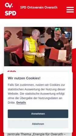 Vorschau der mobilen Webseite www.spdoverath.de, SPD Overath