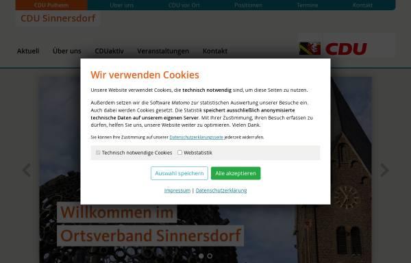 Vorschau von cdu-sinnersdorf.de, CDU-Ortsverband Pulheim-Sinnersdorf