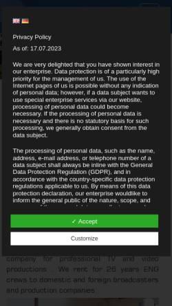 Vorschau der mobilen Webseite www.bild-ton.com, Bild & Ton Agentur Ambrosius - Vollert GbR