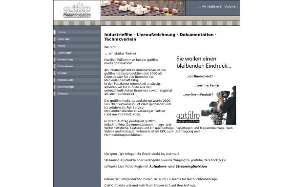 Vorschau von www.gutfilm.de, gutfilm medienproduktion