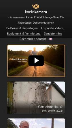 Vorschau der mobilen Webseite www.koelnkamera.de, koelnkamera Rainer Friedrich