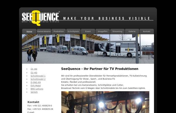 Vorschau von www.seequence.de, Seequence