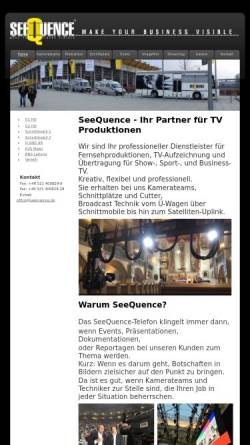 Vorschau der mobilen Webseite www.seequence.de, Seequence