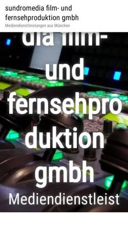 Vorschau der mobilen Webseite www.sundro.de, Sundro-Film TV Produktion