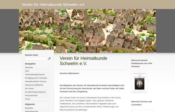Vorschau von www.vfh-schwelm.de, Verein für Heimatkunde Schwelm e.V.