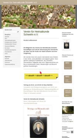 Vorschau der mobilen Webseite www.vfh-schwelm.de, Verein für Heimatkunde Schwelm e.V.