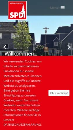 Vorschau der mobilen Webseite www.spd-wermelskirchen.de, SPD Wermelskirchen