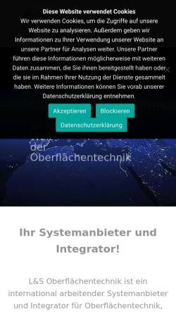 Vorschau der mobilen Webseite www.ls-oberflaechentechnik.de, L&S Oberflächentechnik GmbH & Co. KG