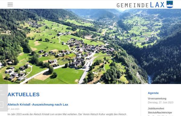 Vorschau von www.lax.ch, Gemeinde & Tourismus