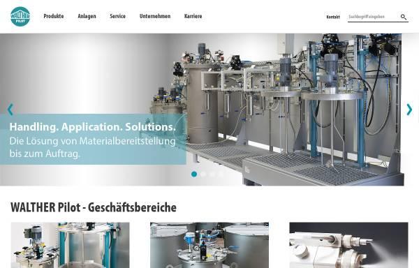 Vorschau von www.walther-pilot.de, Walther-Pilot, Spritztechnik und Lackiersysteme GmbH