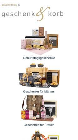 Vorschau der mobilen Webseite www.geschenkundkorb.de, Geschenk & Korb, Inh. Susanne Ziener