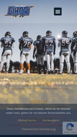 Vorschau der mobilen Webseite www.dortmund-giants.de, Dortmund Giants, Forum
