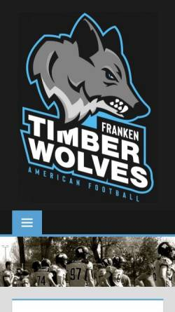 Vorschau der mobilen Webseite www.franken-timberwolves.de, Franken Timberwolves