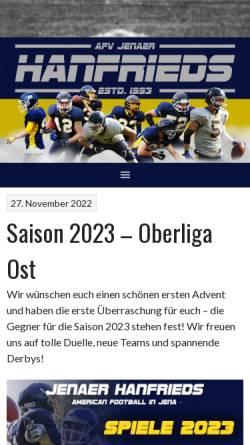 Vorschau der mobilen Webseite hanfrieds.de, Jenaer Hanfrieds