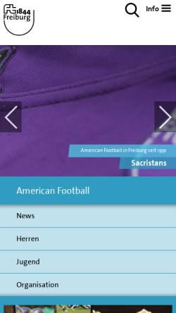 Vorschau der mobilen Webseite www.sacristans.de, Sacristans