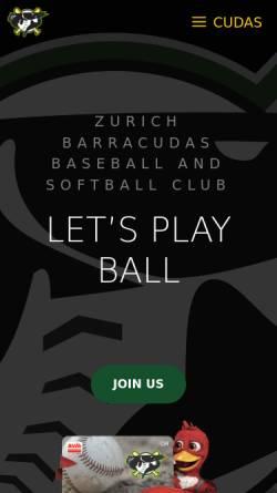 Vorschau der mobilen Webseite www.kobras.ch, Kobras Baseball Club Zürcher Unterland
