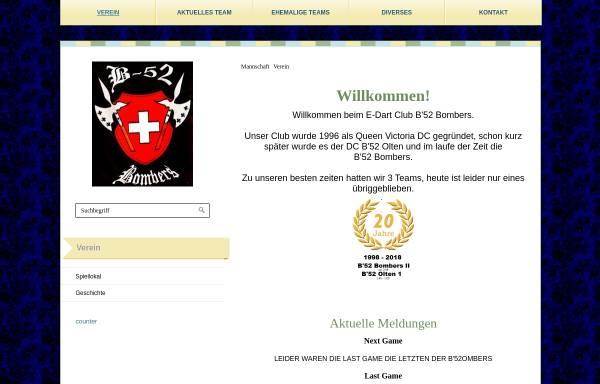 Vorschau von www.b52olten.ch, Dartclub B'52 Olten