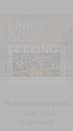 Vorschau der mobilen Webseite www.golfleuk.ch, Golf Club Leuk