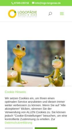 Vorschau der mobilen Webseite www.logo-langenau.de, Logopädie im Gesundheitszentrum Langenau Carolin Miltner