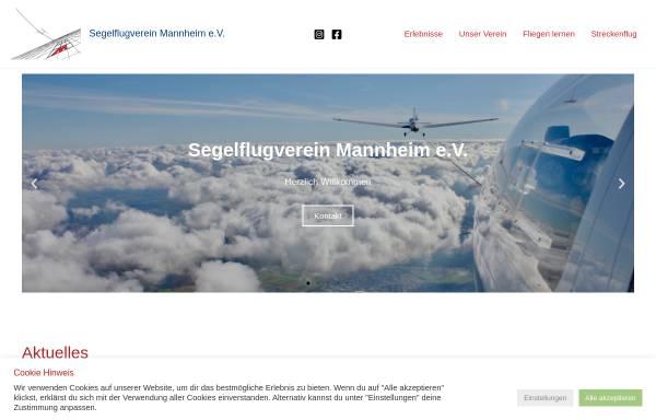 Vorschau von www.segelflugverein-mannheim.de, Mannheimer Segelflugverein