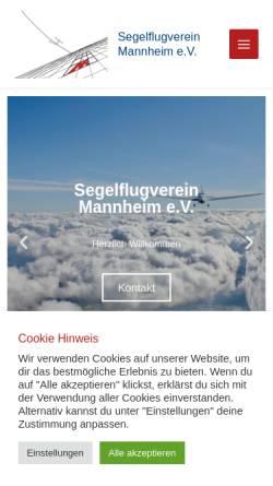Vorschau der mobilen Webseite www.segelflugverein-mannheim.de, Mannheimer Segelflugverein