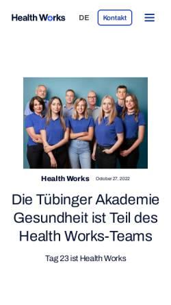 Vorschau der mobilen Webseite www.tag23.de, Arbeitsmedizinische Praxis Dr. med. Karl-Heinz Schultheiß