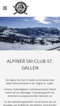 Vorschau der mobilen Webseite www.alpinerskiclub.ch, ASC Alpiner Skiclub St.Gallen