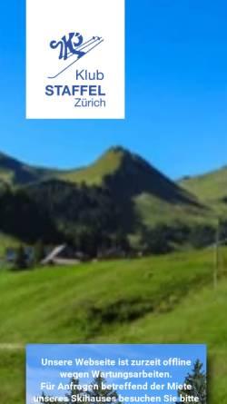 Vorschau der mobilen Webseite www.skiklub-staffel.ch, Klub Staffel Zürich