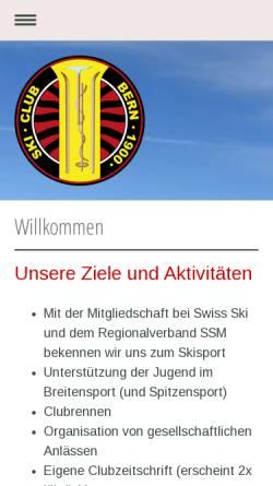 Vorschau der mobilen Webseite www.skiclubbern.ch, SC Bern 1900