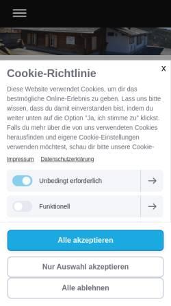 Vorschau der mobilen Webseite www.skiclub-brienz.ch, SC Brienz