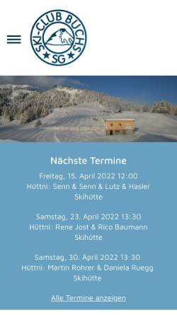 Vorschau der mobilen Webseite www.skiclub-buchs.ch, SC Buchs