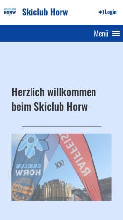 Vorschau der mobilen Webseite www.skiclub-horw.ch, SC Horw