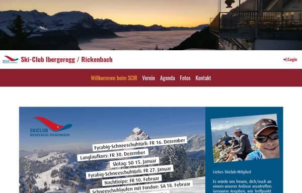 Vorschau von www.scir.ch, SC Ibergeregg/Rickenbach